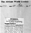 Presseausschnitt: The African World 1915